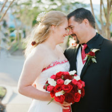 Romantic Red Wedding at North Beach Plantation – Amy & Greg